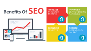 benefits of seo laptop graph