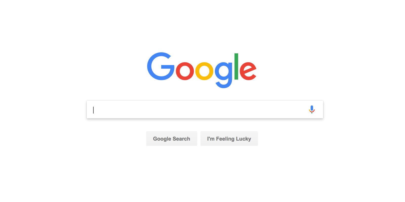 Empty Google Search Bar