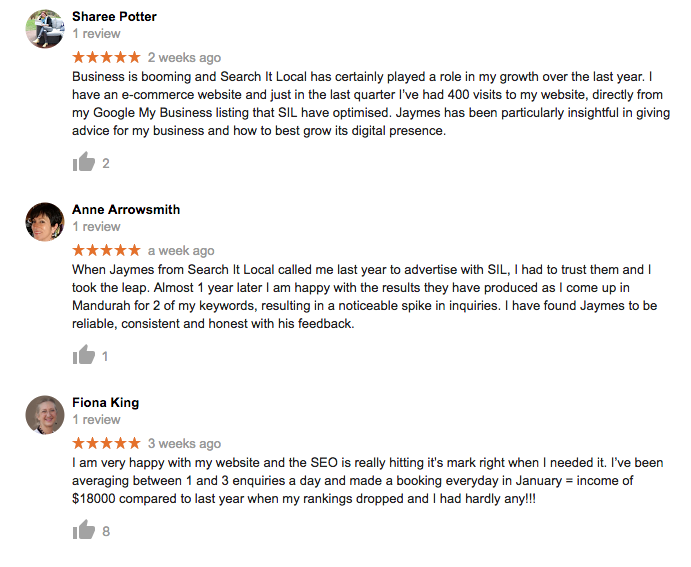 Search It Local positive business reviews