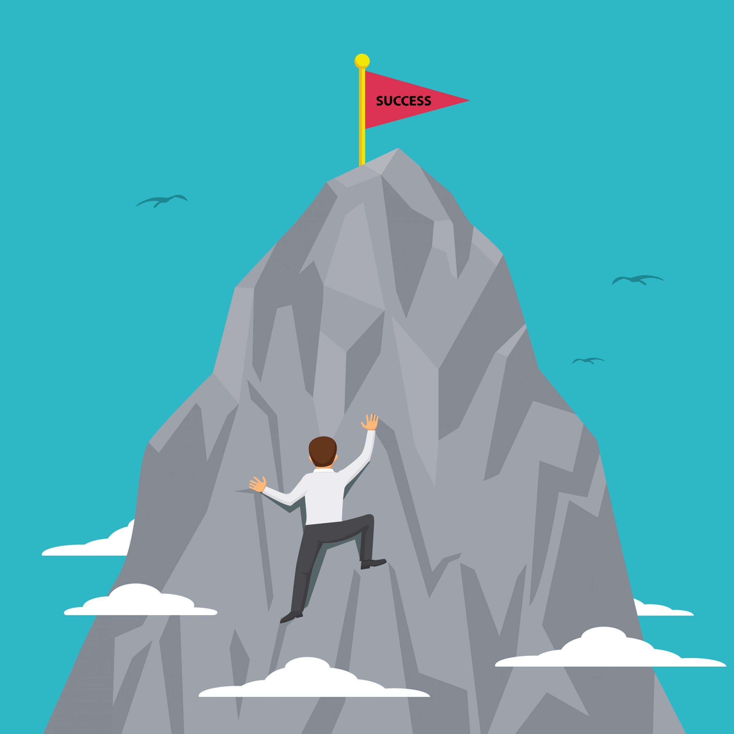 Man trying to climb mountain representing a google SEO penalty