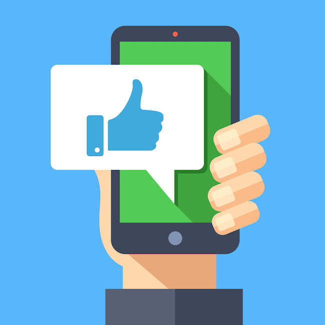 thumbs up social media graphic