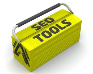 Yellow box labelled SEO tools