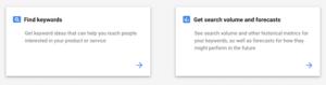 Google Keyword Results Options