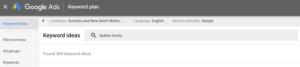 Google Keyword Planner Search Results for Homemade Socks