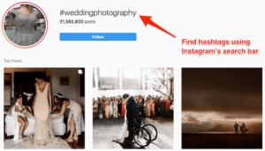 Wedding photography hashtag group