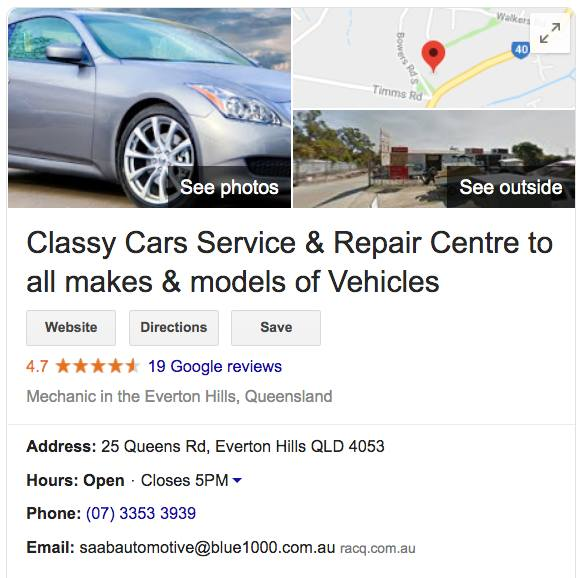 classy car and service repair centre