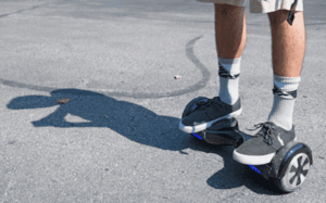 man on hoverboard