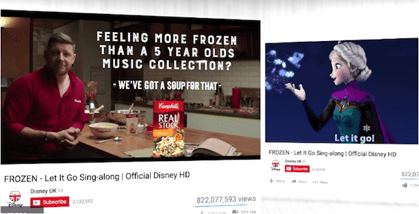 campbell's soup youtube ads