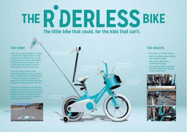 blue riderless bike example