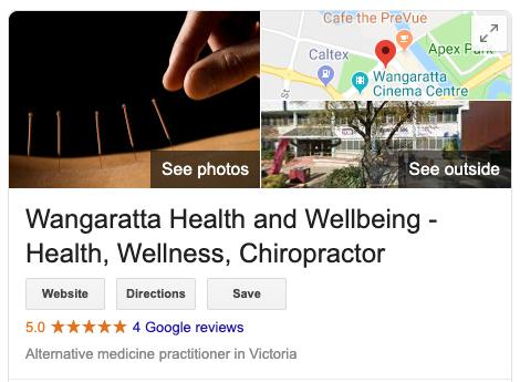 local seo study victoria wellness industry