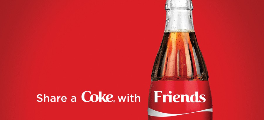 Share a Coke with a friend advertisement