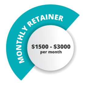 seo monthly retainer price graphic
